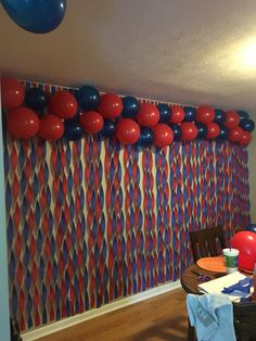 Spiderman Theme Party, Superhero Party Food, Superman Party, Superman Birthday, Avengers Birthday, 5th Birthday Party Ideas, Superhero Birthday Party, First Birthday Parties, Birthday Party Decorations