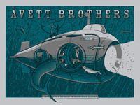 Avett Brothers Poster - Amphitheatre At The Wharf, Orange Beach - Charles Crisler