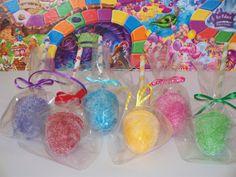 6 Fake Candyland Gumdrop Cakepops Paper Straw Sticks Polka Dot Stripe for Candy Land Theme Birthday Party Favors, Decorations, Centerpiece. $35.00, via Etsy.