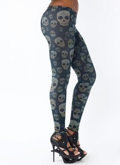Rock out in these skull printed leggings.