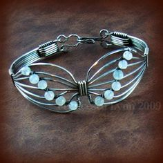 TUTORIAL  Butterfly Wire Wrapped Bracelet by FrancescaLynn on Etsy, $12.00