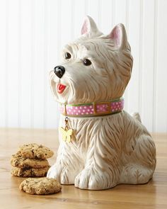 "Westie"" Cookie Jar - Horchow | Cookie Monster :) | Pinterest"
