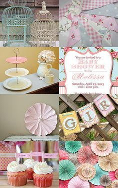 Anthropologie and Shabby Chic Style Baby Shower Party Ideas Chic