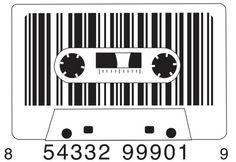 casette tape {bar code}