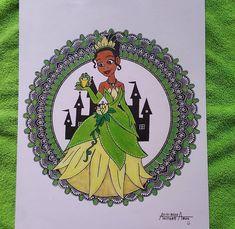 Tiana👸 Mandala Artwork, Tiana, Disney Princesses, Mandala Design, Disney Princess, Disney Princes
