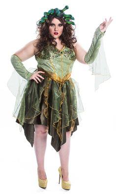 Medusa Adult Plus Costume