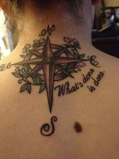 Artisticly Rich Compass Tattoo Designs (84)