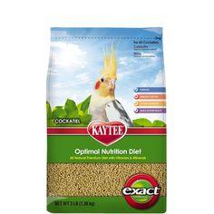 Kaytee Exact Natural Bird Food For Cockatiels, 3-Pound