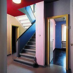 scenerylabel:  Interior of Paul Klee's home photographed by Uwe Jacobshagen. See more: www.meisterhaeuser.de/de/Haus_Paul_Klee.html