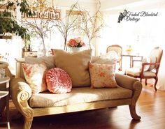 The Faded Bluebird Secret Recipe -Build Your Own Style. Bluebird Vintage, Secret Recipe, Build Your Own, Blue Bird, Repurposed, Love Seat, House Design, Couch, Facebook