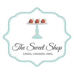Sweets logo - customized with your business name! Business Names, Business Logo, Logos, Logo Branding, Art Deco Logo, Sweet Logo, Cake Logo Design, Black Background Wallpaper, Sign Board Design