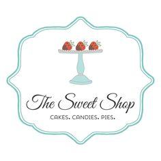 Sweets logo - customized with your business name! Mini Tortillas, Business Names, Business Logo, Logos, Logo Branding, Art Deco Logo, Sweet Logo, Cake Logo Design, Sign Board Design