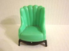 Vintage Plastic Dollhouse Furniture, Plasco Doll House Chair op Etsy, 5,23€