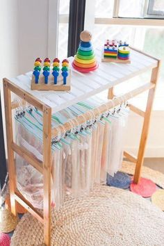 20 of the coolest Kmart hacks EVER! - Kmart hacks for the home - Love how stylish and practical this kids lego organiser is – using a Kmart towel rail of all thin - Toy Room Storage, Puzzle Storage, Lego Storage, Kids Storage, Storage Hacks, School Bag Storage, Toy Storage Bags, Stationary Organization, Home Organisation