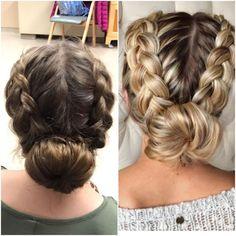 wedding hairstyles easy hairstyles hairstyles for school hairstyles diy hairstyles for round faces p Easy Work Hairstyles, Braided Bun Hairstyles, Braided Ponytail, Diy Hairstyles, Wedding Hairstyles, Donut Bun Hairstyles, Nurse Hairstyles, Sporty Hairstyles, Hairstyles For Dances