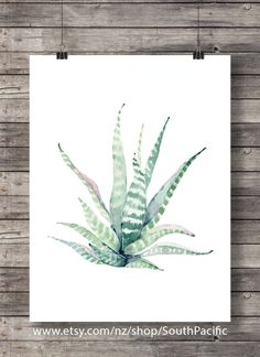 Printable art   Cacti succulent art print   Pastel Watercolor cactus   Hand painted watercolor cactus   cosy decor Printable wall art