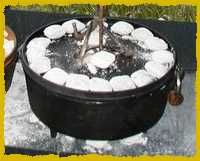 Campfire Cooking: Cooking over an open fire using a Dutch Oven
