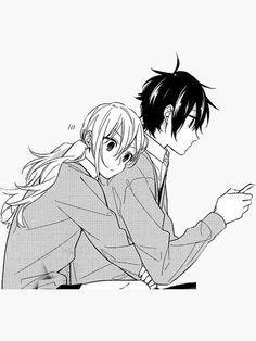 Manga Anime, Comic Manga, Manhwa, Cute Anime Pics, Cute Anime Couples, Hug Stickers, Back Hug, Horimiya, Manga Love