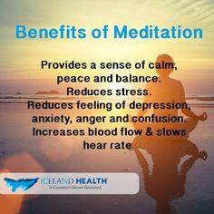 Meditation provides peace and balance among other plenty of benefits!