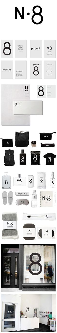 Project No. 8 retail store is located besides Ace Hotel in New York City. It's the owners Elizabeth Beer and Brian Janusiak's 8th project. They are endless hunting for what people are now creating around the world, the store is very conscious to the needs of the traveler. #projectno8 #branding #identity