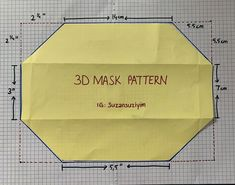 Easy Face Masks, Diy Face Mask, Diy Mask, Sewing Patterns Free, Free Sewing, Mascara 3d, Sewing Techniques, Mask For Kids, Sewing Hacks