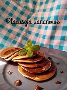Magiczne życie Marty: Błyskawiczne piątki - Bananowe placuszki z czekoladą Diet Recipes, Pancakes, Sweets, Cooking, Breakfast, Food, Diy, Eten, Sweet Pastries