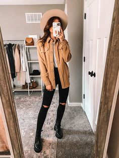 Casual Chic | Combat Boots | Shacket