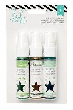 Heidi Swapp - Mixed Media Collection - Color Shine Iridescent Spritz - Set - Overcasts