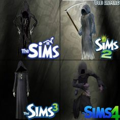 simnationblog:  The Grim Reaper through the Sims Series! Source