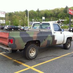 diy pick-up camo, southern staple
