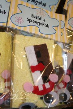 PRINTABLE BuildASpongebob Tags  SpongeBob Best Day Ever by PartyNV, $6.00