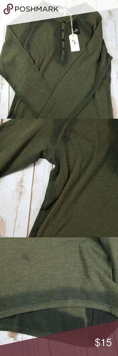 NWT Large Olive Green Long Sleeve Thermal . civil society Shirts Tees - Long Sleeve