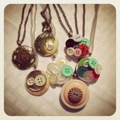 Button pendants | Ashley | Flickr