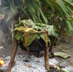 This is the traditional clay pot used to cook food in Morobe Province, Papua New Guinea ~PHOTO TAKEN BY MARGARET G. in Morobe 09/2013