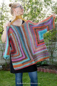 Free Crochet Sweater Pattern: Ihan Kaikki Kotona