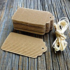 20 Pk. Corrugated Cardboard Tags Gift Tags by OutsidetheBoxPapers, $4.25