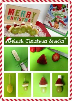 Healthy Christmas Snacks for Kids to Make #Grinch #Holiday #Treats #Children