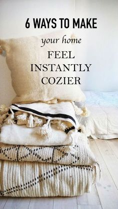 6 ways to make your home feel instantly cozier First Apartment, Apartment Living, Living Room, Apartment Decoration, First Home, Cozy House, My Room, Home Organization, My Dream Home