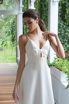 Style Crepe A-line Gown with Front Cut Out and Detachable Bow Detail Sweetheart Gowns, Sweetheart Bridal, Dream Wedding Dresses, Wedding Gowns, Justin Alexander, Chiffon, A Line Gown, Bridal Boutique, White Dress