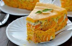 Рецепт запеканки с творогом, маком и тыквой - очень красивой и вкусной. Ингредиенты. Описание приготовления тыквенно-творожной запеканки.
