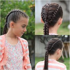 @abellasbraids To do this braid: part hair down the middle, Dutch braid each side, leaving feather pieces out on the inside section of each. fishtail braid the feather pieces down the middle.