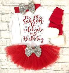 A personal favorite from my Etsy shop https://www.etsy.com/listing/568905459/baby-girl-clothes-tisthe-season-to