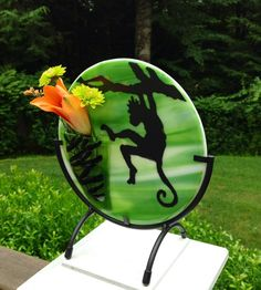 Hey, I found this really awesome Etsy listing at https://www.etsy.com/listing/197821923/monkey-king-fused-glass-vase