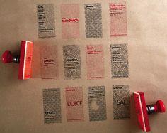 Bonito e barato :: [ligiafascioni.com.br] :: Carimbos, fitas e papel kraft.