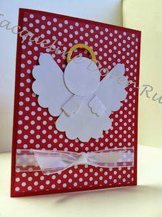 Sugar's Smilin Paper Crafts: Angel Punch Art CARDS ! - Late Night Stamper Blog Hop