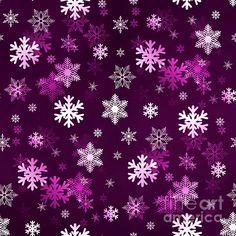 Dark Lilac Snowflakes
