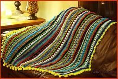 The Medley of Stitches Blanket is a crochet blanket pattern that did not stop even after capturing brilliantly bold colors; it uses popcorn stitches, granny stitches, double crochets, single crochets, cluster, puff stitches, and treble crochets.