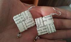 orecchini lettere del cuore - tecnica origami