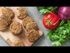 Healthy, easy and super delicious vegan recipe for oven-baked crispy falafels. They are perfect for vegetarian burgers and wraps and very nutritious.