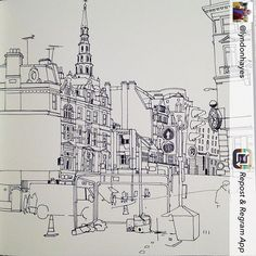 Repost from @lyndonhayes #fleetstreet #london #reportage #city #busy #traffic #roadworks #urbanart #urbansketch #illustration #drawing #sketch #sketchbook #doodle #architecture #pen #ink #people